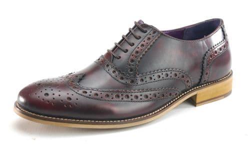 Frank James Redford 1649 Burgundy Shoes